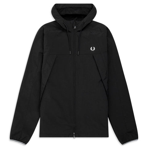 J7527-102 Panelled Zip Through Jacket in Black Coats & Jackets Fred Perry