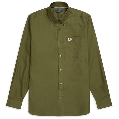 Oxford Shirt in Dark Thorn Green Shirts Fred Perry
