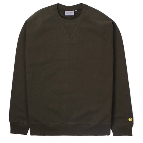 Chase Sweat in Cypress/ Gold sweatshirt Carhartt