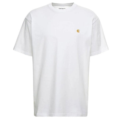 Short Sleeve Chase T-Shirt in White/ Gold T-Shirts Carhartt