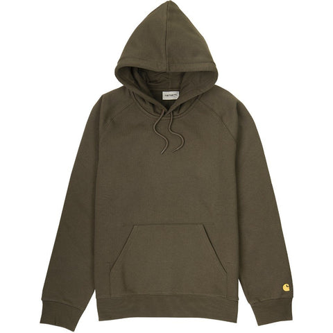 Carhartt Hooded Chase Sweat in Cypress/ Gold Hoodies Carhartt