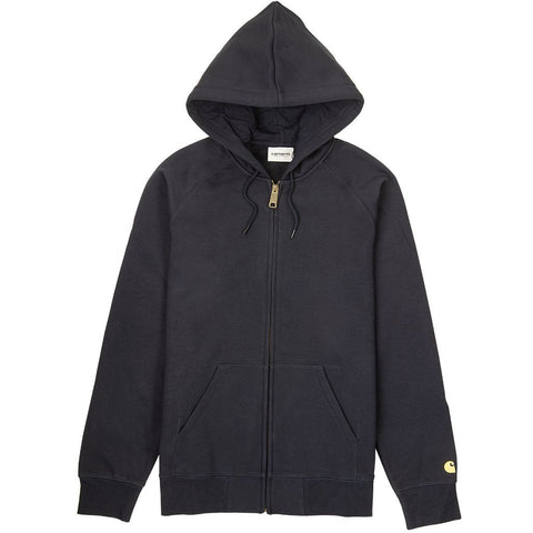 Hooded Chase Jacket in Dark Navy/ Gold Hoodies Carhartt