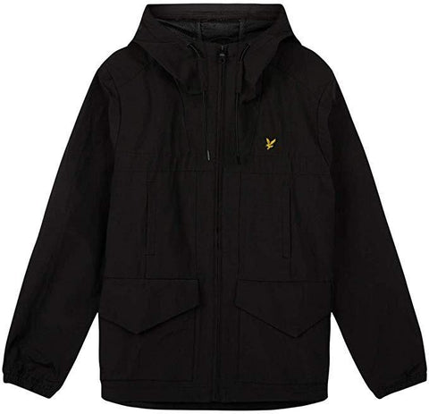 Funnel Neck Puffer Jacket in Black Coats & Jackets Lyle & Scott