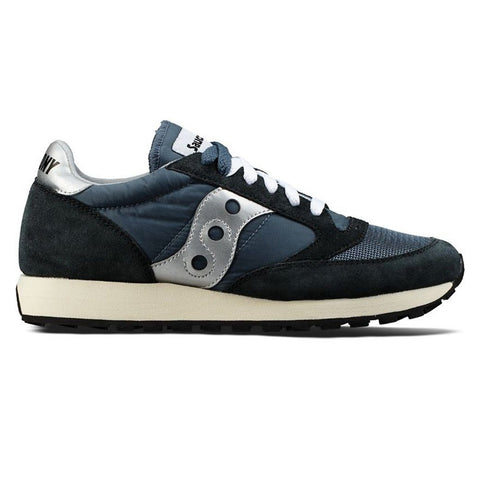 Jazz Original Vintage Trainer in Blue/ Navy/ Silver Trainers Saucony