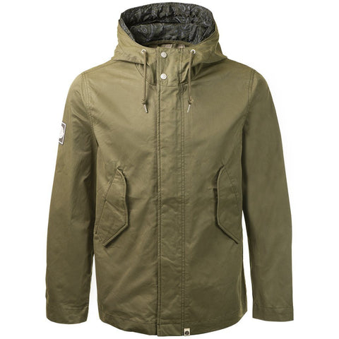 Cotton Zip Up Hooded Jacket In Green Jacket Pretty Green