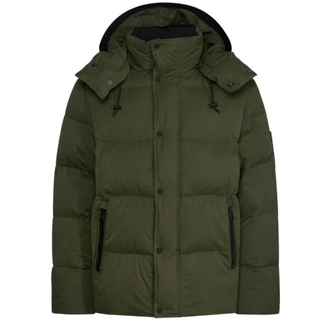 Faux Down Jacket in Dark Olive Coats & Jackets Calvin Klein