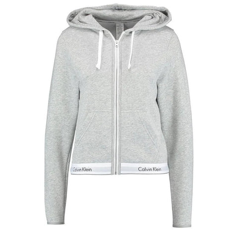 Lounge Zip Up Hoodie in Grey Heather Hoodies Calvin Klein Women's
