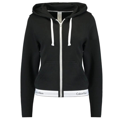 Lounge Zip Hoodie in Black Hoodies Calvin Klein Women's