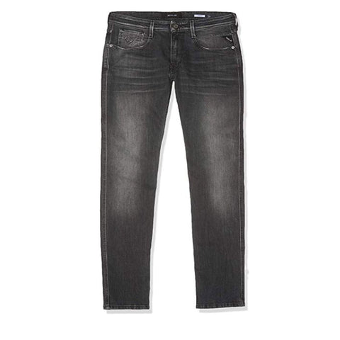 Anbass Hyperflex Slim Jeans in Dark Grey Denim Jeans Replay