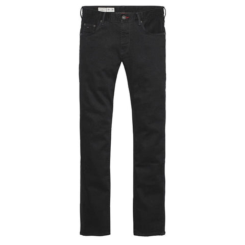 Denton Straight Leg Jeans in Clean Black Jeans Tommy Hilfiger