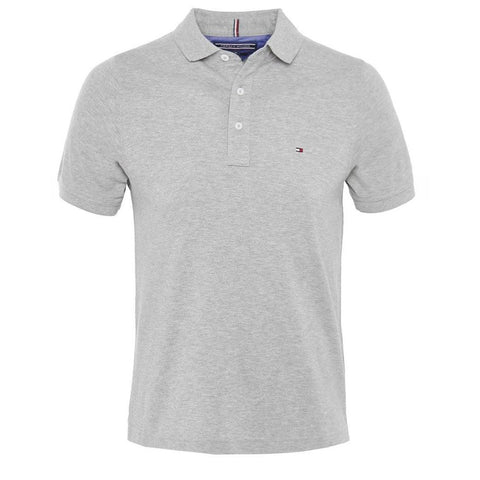 Core Slim Fit Polo in Cloud Heather Polo Shirts Tommy Hilfiger