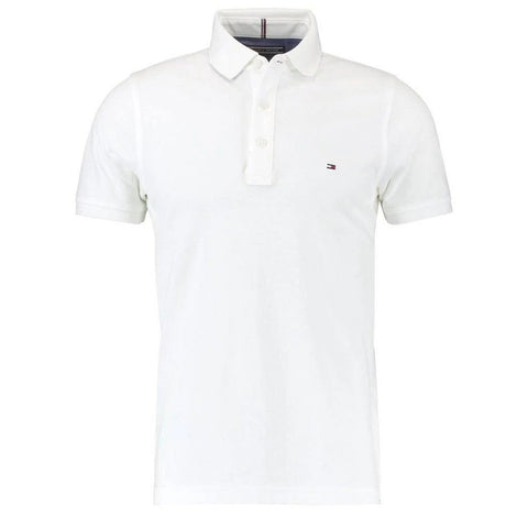 Core Slim Fit Polo in Bright White Polo Shirts Tommy Hilfiger