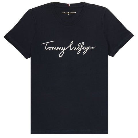 Heritage Crew Neck Graphic T-Shirt in Midnight Women's T-Shirts Tommy Hilfiger Women's