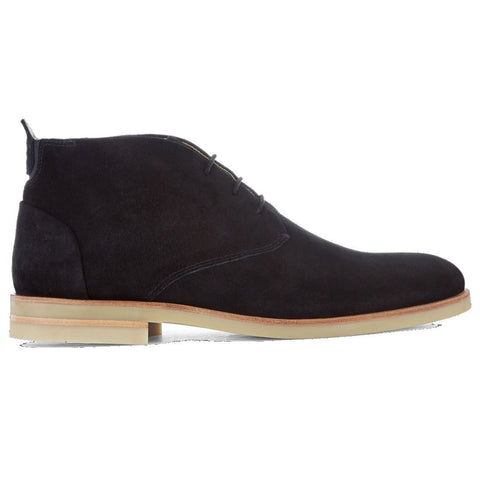 Bedlington Suede Boot in Black Shoes H by Hudson