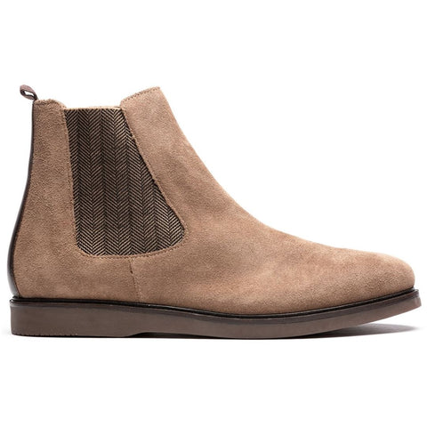 Calverston Suede Chelsea Boot in Taupe Shoes H by Hudson