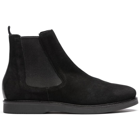 Calverston Suede Chelsea Boot in Black Shoes H by Hudson