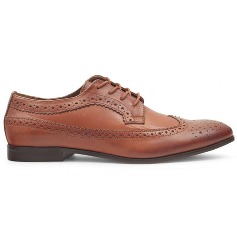 Crowthorne Brogue Shoe in Tan Shoes H by Hudson