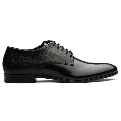 Craigavon Derby Stamp Shoe in Black Shoes H by Hudson