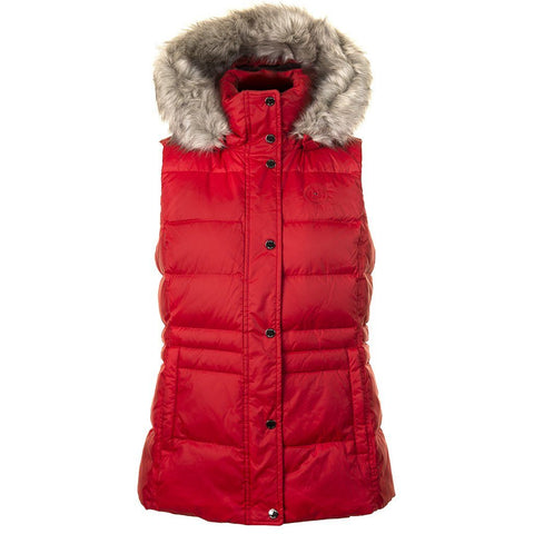 New Tyra Down Vest in Haute Red Gilet Tommy Hilfiger Women's