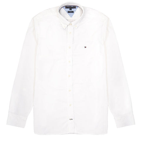 Stretch Twill Shirt in Bright White Shirts Tommy Hilfiger