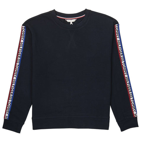 Louise Tape Sweatshirt in Midnight Women's Sweatshirt Tommy Hilfiger Women's