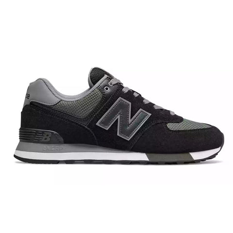 574v2 Trainer in Black/Green Trainers New Balance