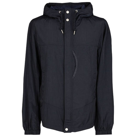 Zip Through Nylon Jacket in Navy Coats & Jackets Pretty Green