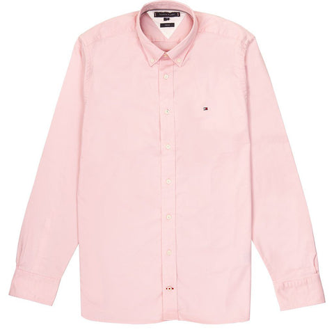 Stretch Twill Shirt in Pink Shirts Tommy Hilfiger