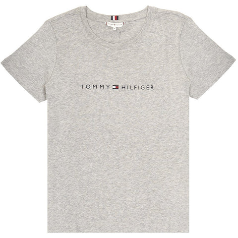 Crew Neck Tee in Light Grey T-Shirts Tommy Hilfiger Women's