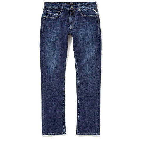 m1005.000.213.582.009 Straight Leg Jeans in Medium Blue Jeans Replay