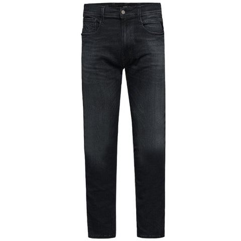 M914.000.661.E01.098 Slim Fit Hyperflex Cloud Anbass Jeans in Black Jeans Replay
