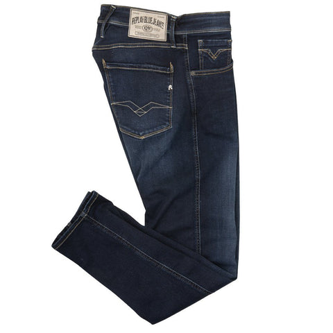 M914.000.41A.502.007 Slim Fit Anbass Jeans in Blue Jeans Replay