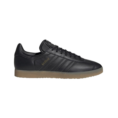 BD7480 Gazelle Trainers In Core Black/Gum Trainers adidas