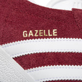 B41645 Gazelle Trainers In Collegiate Burgundy/White Trainers adidas