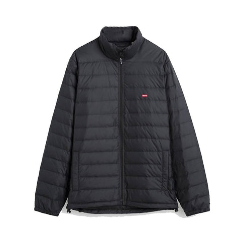 Down Puffer Jacket in Black Coat Levi's