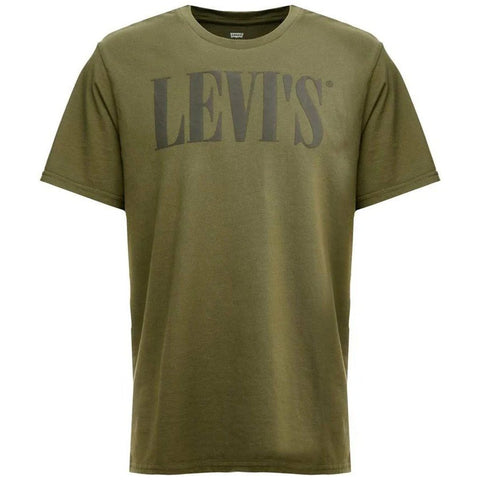 Relaxed Graphic T-Shirt in Khaki T-Shirts Edwards Menswear