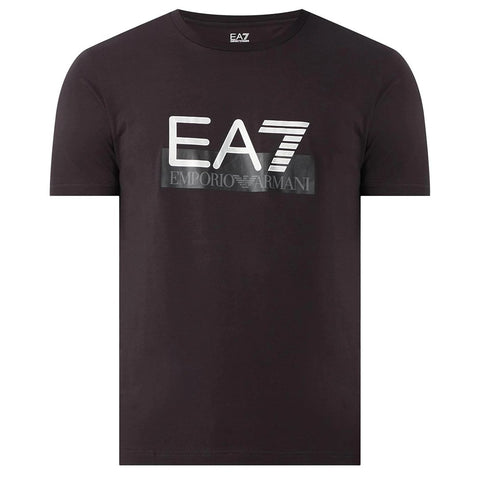 Jersey Logo Print T-Shirt in Black T-Shirts Emporio Armani EA7