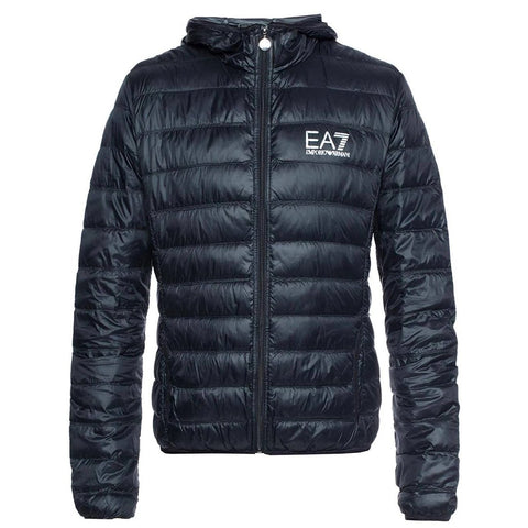 Core Logo Down Jacket in Black Coats & Jackets Emporio Armani EA7