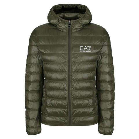 Core Logo Down Jacket in Forest Night Coats & Jackets Emporio Armani EA7