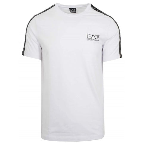Tape Logo T-Shirt in White Emporio Armani EA7