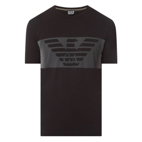 Logo T-Shirt in Black T-Shirts Emporio Armani EA7