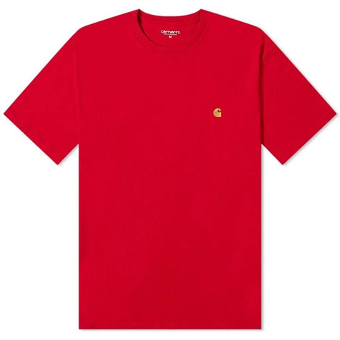WIP Chase T-Shirt in Cardinal Red/ Gold T-Shirts Carhartt