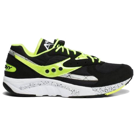 Aya Trainers in Black/Neon Trainers Saucony