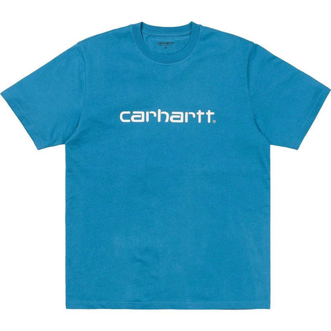WIP Script T-Shirt in Pizol Blue & White T-Shirts Carhartt