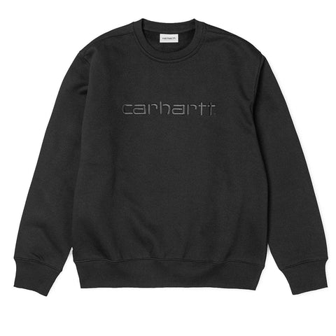 WIP Crew Neck Sweatshirt in Black/ Black Edwards Menswear