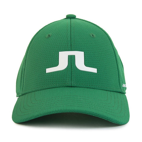 Bridge Logo Cap in Golf Green Hats J. Lindeberg