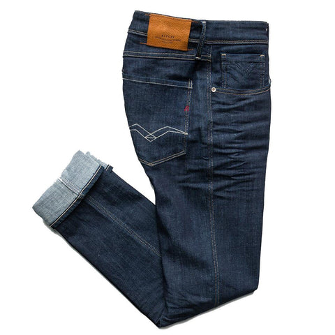 Anbass Slim Fit Jeans in Blue Jeans Replay
