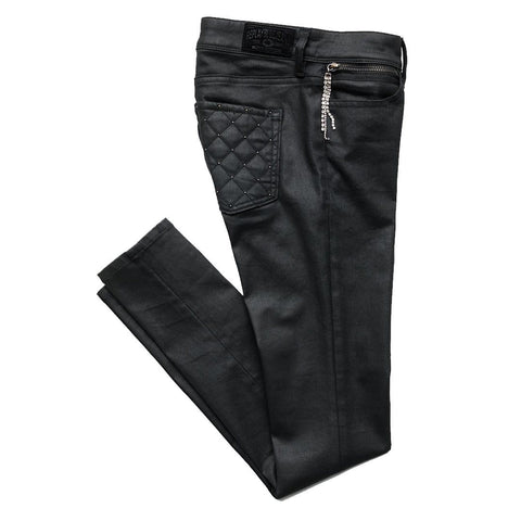 Skinny Fit Kymi Jeans in Black Women's Jeans Replay Women's
