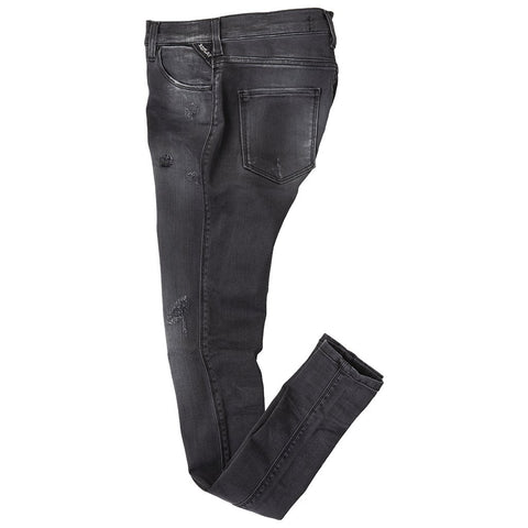 Hyperflex Skinny Jeans in Steel Black Women's Jeans Replay Women's