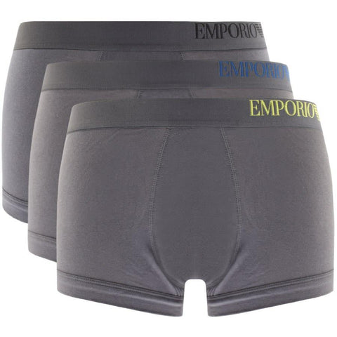 3 Pack Trunk Boxers in Grey Underwear Emporio Armani